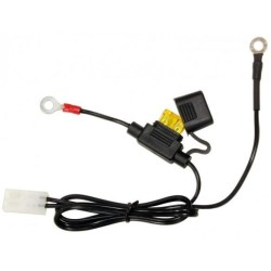 Battery charger cable for ACCUGARD-900 with fuse