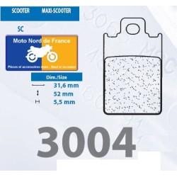 Jeu de plaquettes type 3004 SC