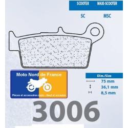 Set of pads type 3006 SC
