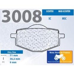 Jeu de plaquettes type 3008 MSC