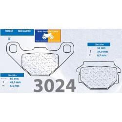 Set of pads type 3024 SC