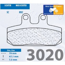 Set of pads type 3020 MSC