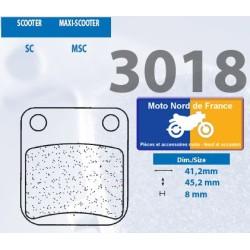 Set of pads type 3018 SC