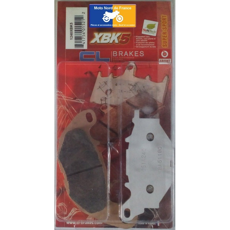 Set of pads type 1240 XBK5