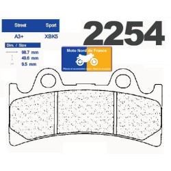 Set of pads type 2254 XBK5