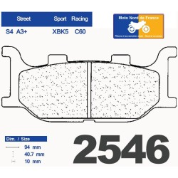 Set of pads type 2546 XBK5