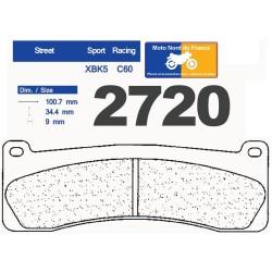 Set of pads type 2720 XBK5