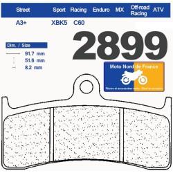 Set of pads type 2899 XBK5