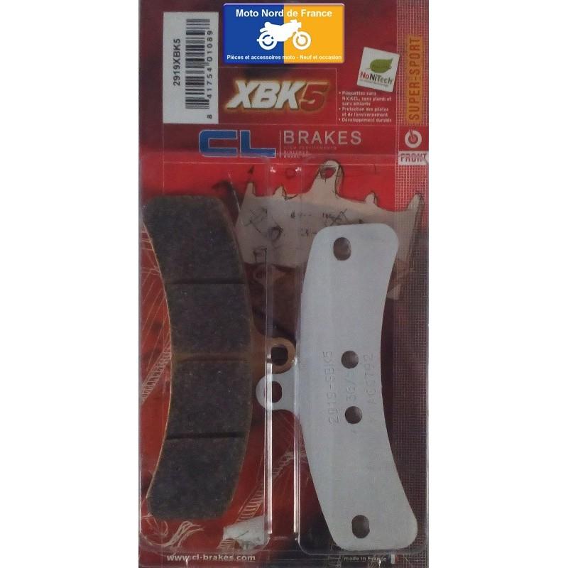 Plaquettes de frein type 2919 XBK5 pour étrier spécial Spiegler 8 pistons