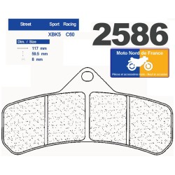 Set of pads type 2586 XBK5