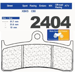 Set of pads type 2404 XBK5