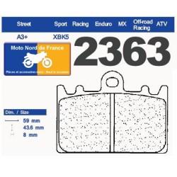 Set of pads type 2363 XBK5