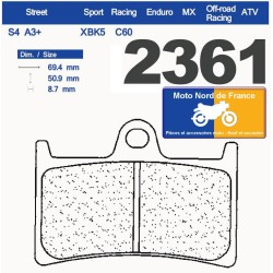 Set of pads type 2361 XBK5
