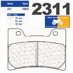 Set of pads type 2311 XBK5