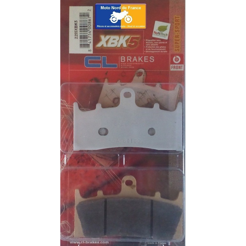 Set of pads type 2255 XBK5