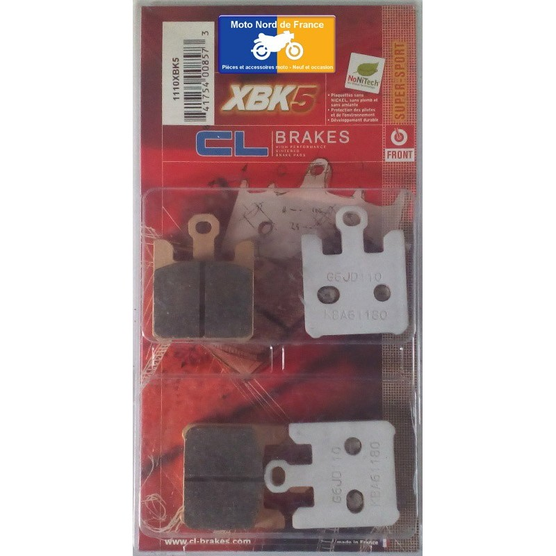 Set of pads type 1110 XBK5