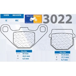 Set of pads type 3022 SC
