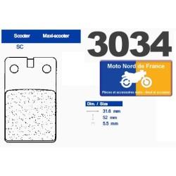 Set of pads type 3034 SC