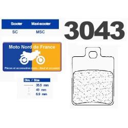Set of pads type 3043 MSC