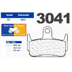 Set of pads type 3041 SC
