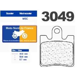 Set of pads type 3049 MSC