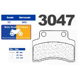 Set of pads type 3047 MSC