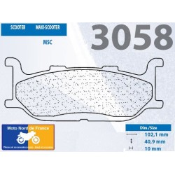 Set of pads type 3058 MSC