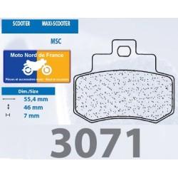 Set of pads type 3071 MSC