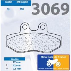Jeu de plaquettes type 3069 MSC