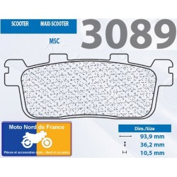 Set of pads type 3089 MSC
