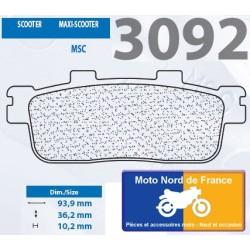 Set of pads type 3092 MSC
