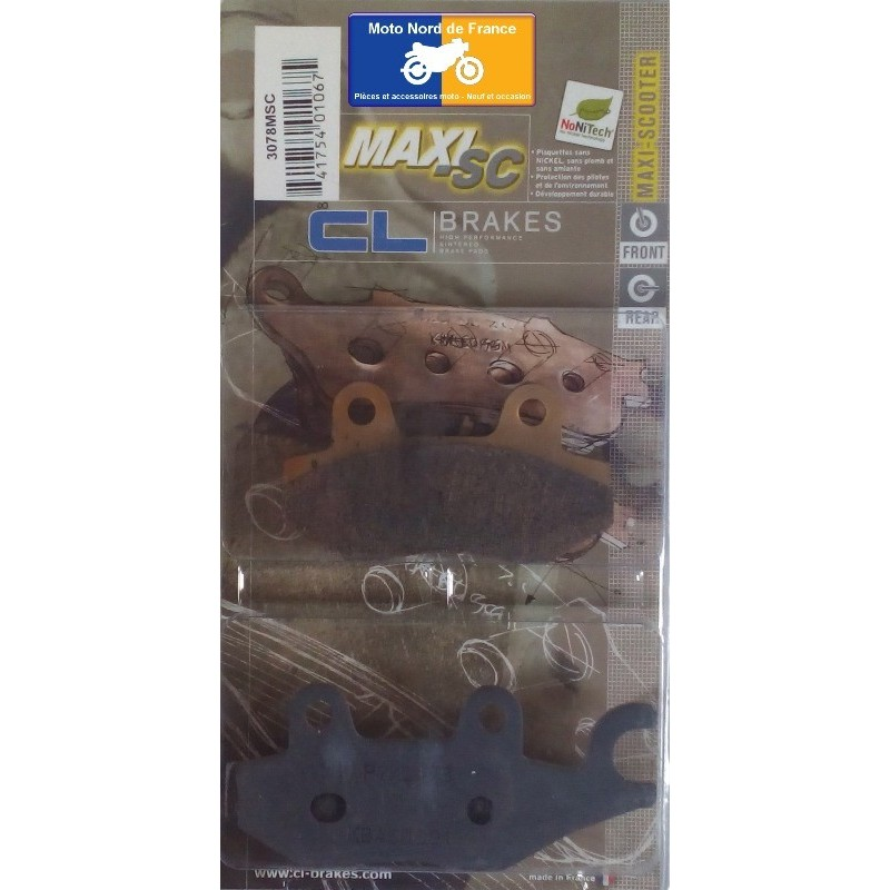 Set of pads type 3078 MSC