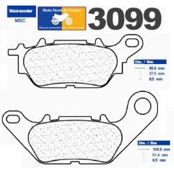 Set of pads type 3099 MSC