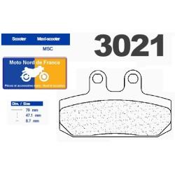 Set of pads type 3021 MSC