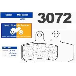 Set of pads type 3072 MSC