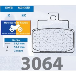 Jeu de plaquettes type 3064 MSC