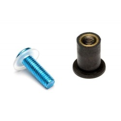 Kit 8 vis aluminium Sifam pour bulle couleur bleu