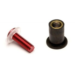 Set of 8 aluminium screws Sifam for fairing color red