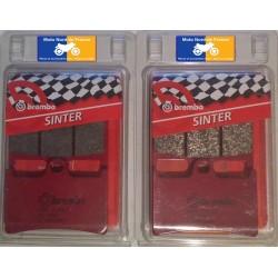 2 Jeux de plaquettes avant Brembo SA pour Yamaha FZR 400 R 1991-1994