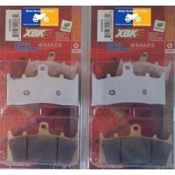 2 Sets of front brake pads for Kawasaki ZX-9R 1996-2001