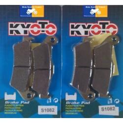2 Jeux de plaquettes avant Kyoto pour Gilera 500 Nexus 2004-2012