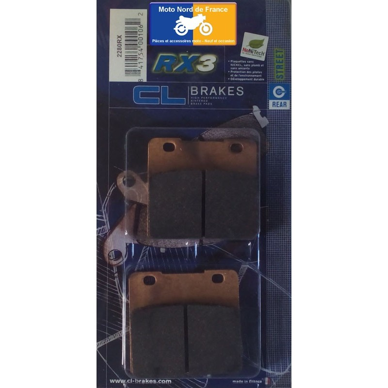 Set of pads type 2280 RX3