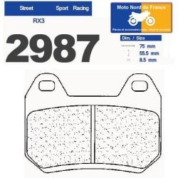Set of pads type 2987 RX3