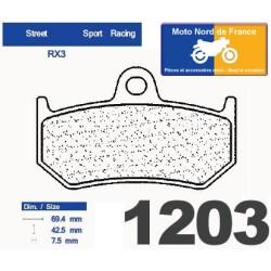 Set of pads type 1203 RX3