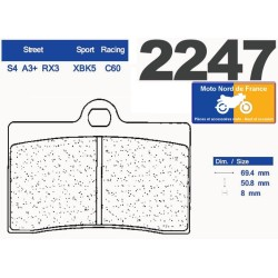 Set of pads type 2247 A3+