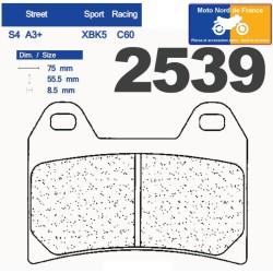 Set of pads type 2539 A3+