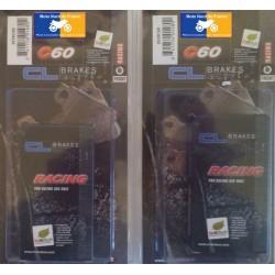 2 jeux de plaquettes racing pour RS 250 1997-2005