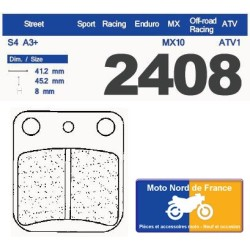 Set of pads type 2408 RX3