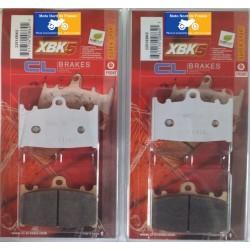 2 Jeux de plaquettes avant pour Kawasaki 1200 ZZR 2002+