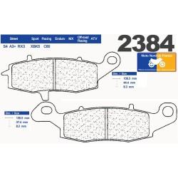 Set of pads type 2384 RX3